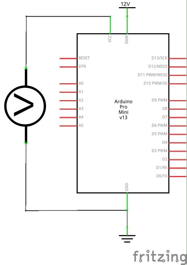 Montage pour identifier le régulateur de tension.